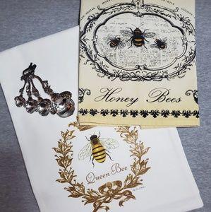NEW Ashdene Honey Bee Tea Towel